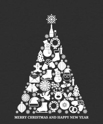 Αυτοκόλλητο Χριστουγεννιάτικο Δέντρο - Βιτρίνα καταστήματος