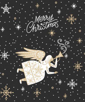 Χριστουγεννιάτικο Αυτοκόλλητο Άγγελος - Χριστουγεννιάτικη Διακόσμηση βιτρινών καταστημάτων
