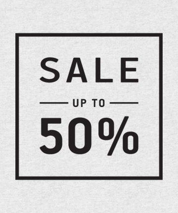 Αυτοκόλλητο Εκπτώσεων - Sale για καταστήματα - Sale 50% - Σήμανση Βιτρίνας