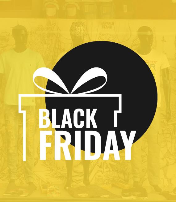 Αυτοκόλλητο βιτρίνας για την ημέρα Black Friday - Αυτοκόλλητα Εκπτώσεων - Προσφορών για καταστήματα - SaleStickers