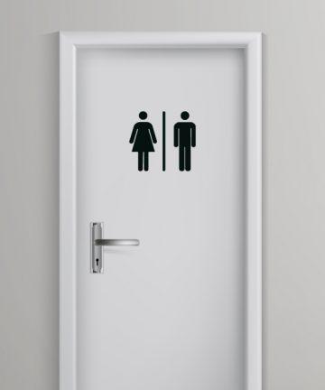 Αυτοκόλλητο για Σήμανση σε Τουαλέτα - WC