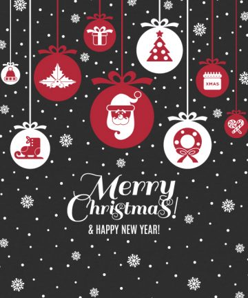 Χριστουγεννιάτικες Μπάλες - Αυτοκόλλητα για Χριστουγεννιάτικες Βιτρίνες σε Καταστήματα
