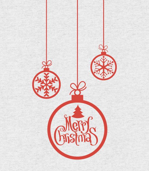 Χριστουγεννιάτικο Αυτοκόλλητο - Χριστουγεννιάτικες Μπάλες - Αυτοκόλλητα για Χριστουγεννιάτικες Βιτρίνες σε Καταστήματα