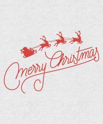 Χριστουγεννιάτικο Αυτοκόλλητο Έλκηθρο - Άγιος Βασίλης - Διακόσμηση βιτρίνας με Χριστουγεννιάτικα Αυτοκόλλητα