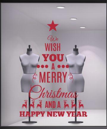 Χριστουγεννιάτικο Αυτοκόλλητο Δέντρο - Αυτοκόλλητα για Χριστουγεννιάτικες Βιτρίνες σε Καταστήματα