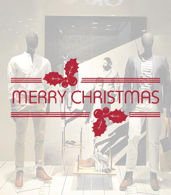 Αυτοκόλλητο Χριστουγεννιάτικο Merry Christmas - Χριστουγεννιάτικη Διακόσμηση βιτρινών καταστημάτων