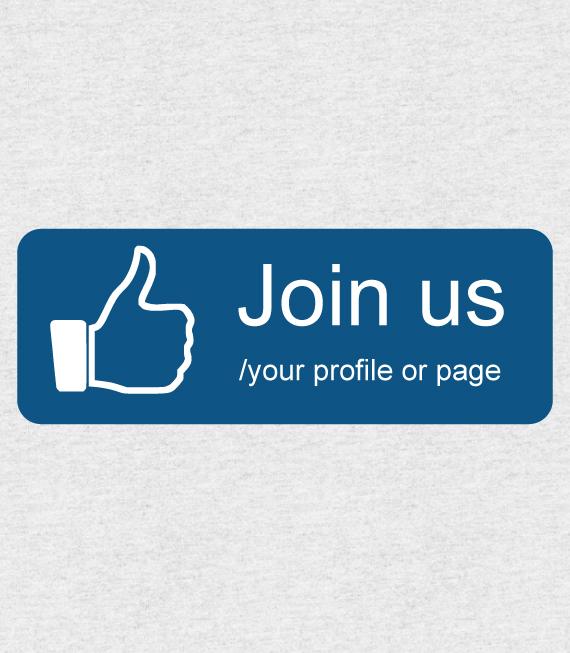 Αυτοκόλλητο Σήμανσης Facebook για βιτρίνα καταστήματος