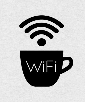 Free WiFi Sticker. Αυτοκόλλητο για σήμανση Δωρεάν WiFi σε βιτρίνες καταστημάτων