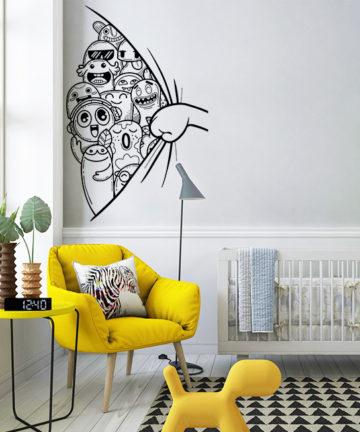 Αυτοκόλλητο Τοίχου Τερατάκια. Μεταμορφώστε το παιδικό δωμάτιο απλά, γρήγορα και οικονομικά, με ένα αυτοκόλλητο τοίχου!