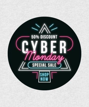 Αυτοκόλλητο Cyber Monday - Αυτοκόλλητα Εκπτώσεων - Προσφορών για καταστήματα - SaleStickers