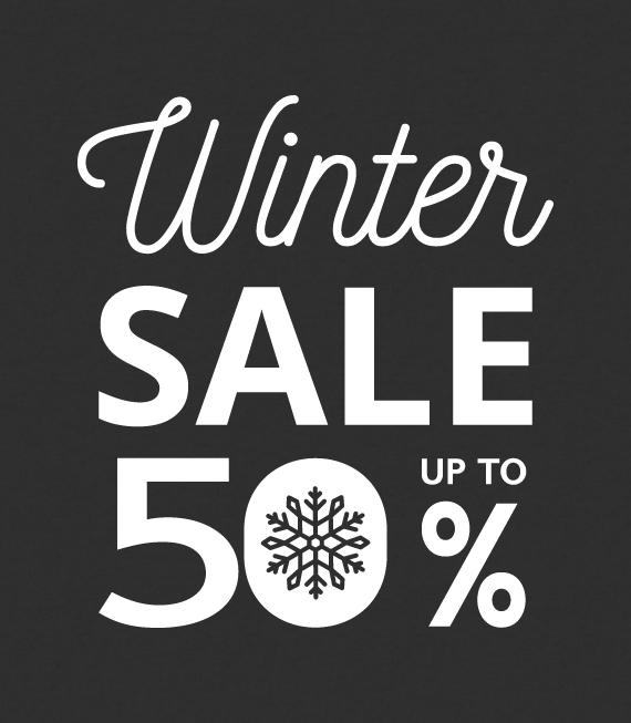 Αυτοκόλλητα για Χειμερινές εκπτώσεις - Βιτρίνα καταστημάτων - Διακόσμηση - Εκπτώσεις
