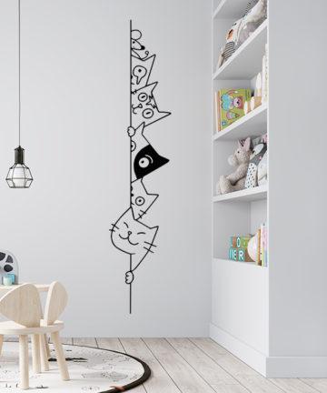 Αυτοκόλλητο Τοίχου Γάτες. Μεταμορφώστε το παιδικό δωμάτιο απλά και γρήγορα με ένα τεράστιο διαστημικό αυτοκόλλητο τοίχου!